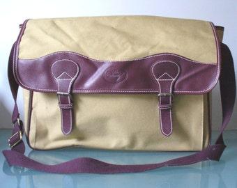 Vintage Davidoff Canvas Messenger Bag