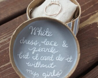 Sale!!! My Girls and Pearls Bridesmaid Proposal Gift
