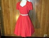 On Sale-Beautiful Red HEART Garden TEA Dress