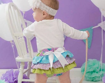 Baby Girl Bloomer-Fall-Lavander Peacock diaper cover-Thanksgiving-Teal-aqua-ruffle diaper cover-Peacock Bloomer-Spring-Baby Girl Fall