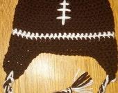 Football Crocheted Hat