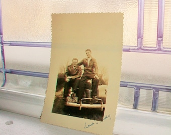 Two Brothers Vintage Photograph 5 x 3.5 Circa 1941