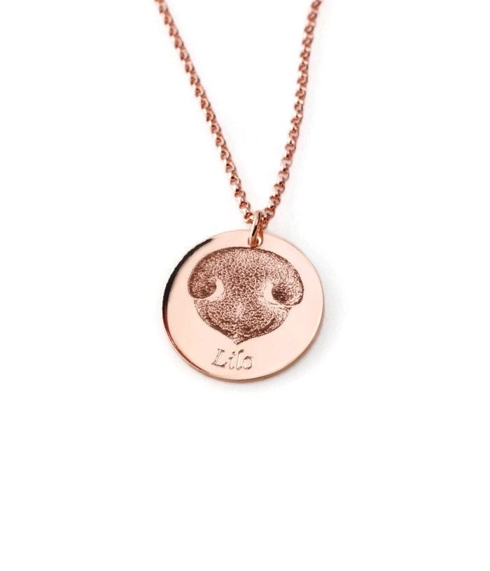 Custom Made Sossi Jewelry Home: Your Pet's Actual Nose Print Custom Personalized Pendant