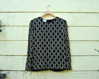 80s Diamonds Are Forever Blouse