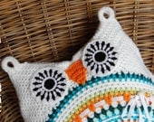 OWL CUSHION 'white' by ATERGcrochet