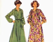 PATTERN Style 2444 Loose fit dress pullover slit front tie or collar pleated to yoke front and back with long sleeves Size 14 16 18 (uncut)