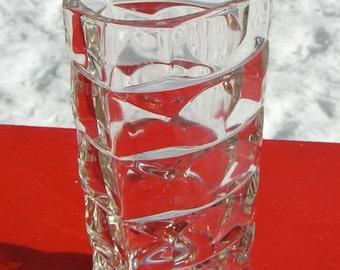 French GEO Modernist 60s Reuleaux Triangular Glass VASE FRANCE