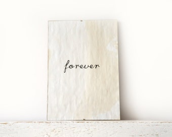 Wall Decor, Poster, Sign - Forever