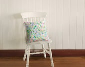 Ready to Ship Honeycomb Pillow Slip Cushion Cover, Multicolor Hexagons Mermaid Pearl | Made to Order