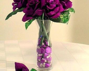 hershey kiss flowers how to make