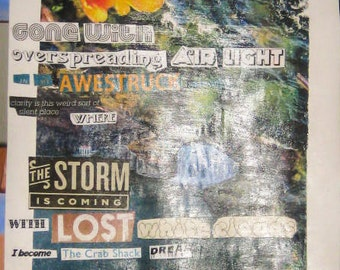 January's Silent Sun Poetry Collage