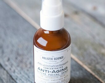 Concentrated Anti-Aging Active Facial Serum with Coenzyme Q10.  100% Vegan.