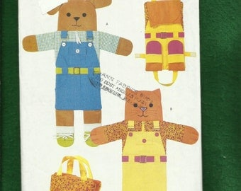 Butterick 3058 Teaching Pets Kids Learn to Button Buckle & Tie Shoes To Dress Themselves UNCUT