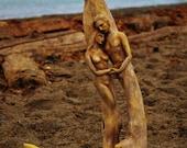 5 x 8 Art Card - Print, The Lovers, Driftwood Sculpture by Debra Bernier, Shaping Spirit