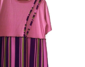 Eco Shift Dress/ Funky Retro Tee Shirt Dress