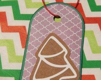 Christmas Gift Tag- Gingerbread Christmas Tree