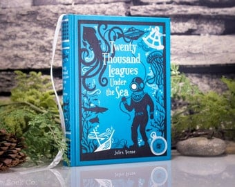 Hollow Book Safe - 20,000 Leagues Under the Sea (LEATHER BOUND)