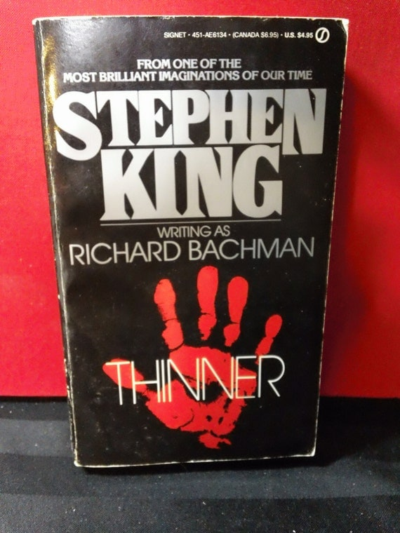 Thinner by stephen king writing as richard bachman vintage 1985 signet