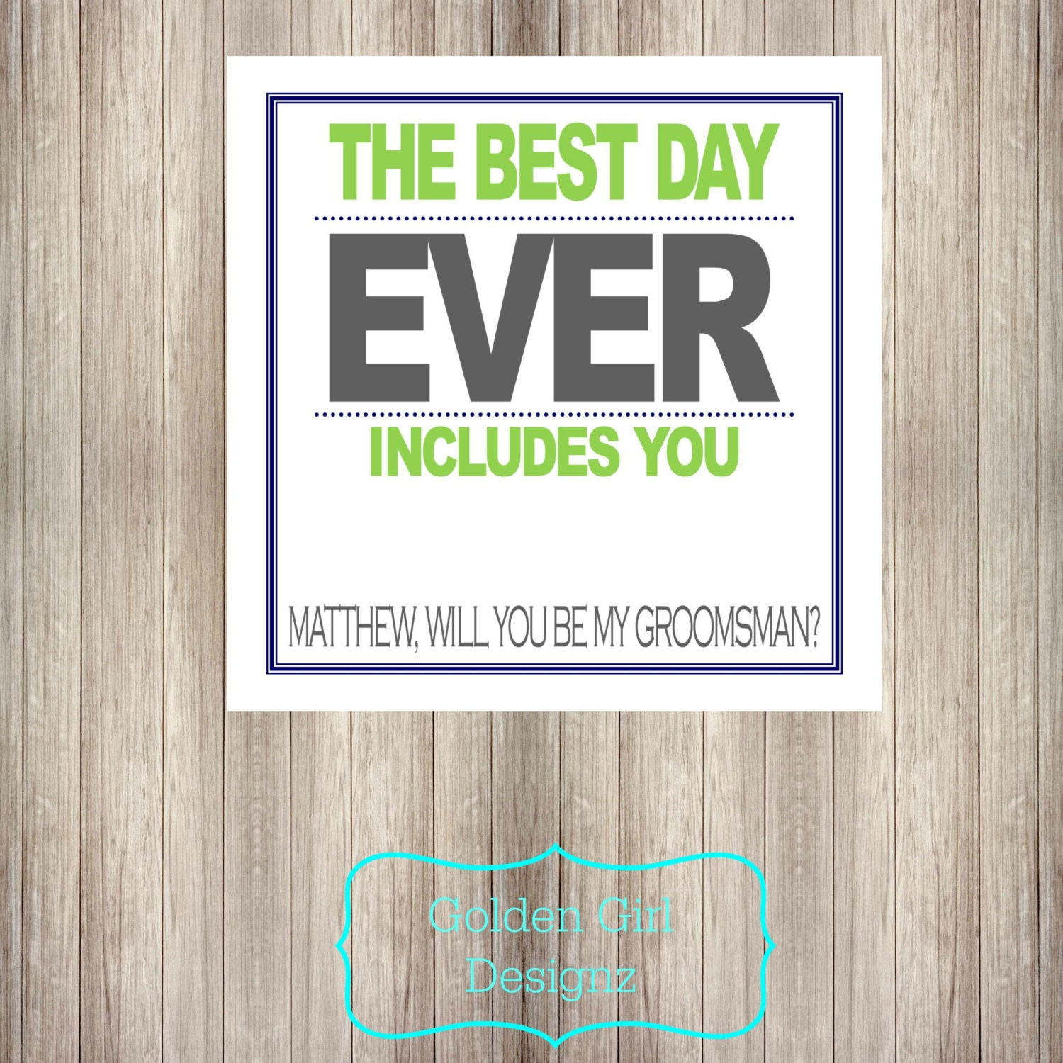 image regarding Printable Man Card titled Do-it-yourself Printable Custom-made Will By yourself Be My Groomsman Card