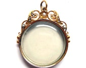 Exquisite Victorian 15K Gold and Seed Pearl Double Locket