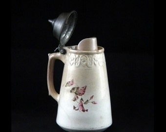 Bennett's Patent Stein Style Syrup Pitcher - May 12 1885 - True Antique - 1800s - HTF