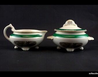 "Homer Laughlin Nautilus Collection ""Amsterdam"" Cream & Sugar Set  - Vintage 1950s Homer Laughlin China"