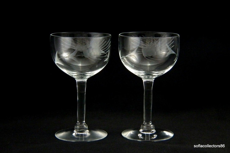 javit crystal fine wheat pattern cocktail glasses