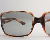Vintage 60's Italian Oversized Cognac Tortoise Sunglasses
