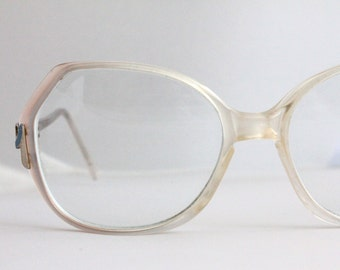 Vintage Oversized Pastel Pink Eyeglasses Frames
