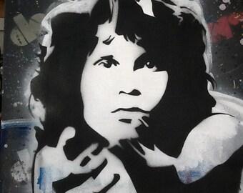 Jim Morrison Spray paint Acrylic on Canvas