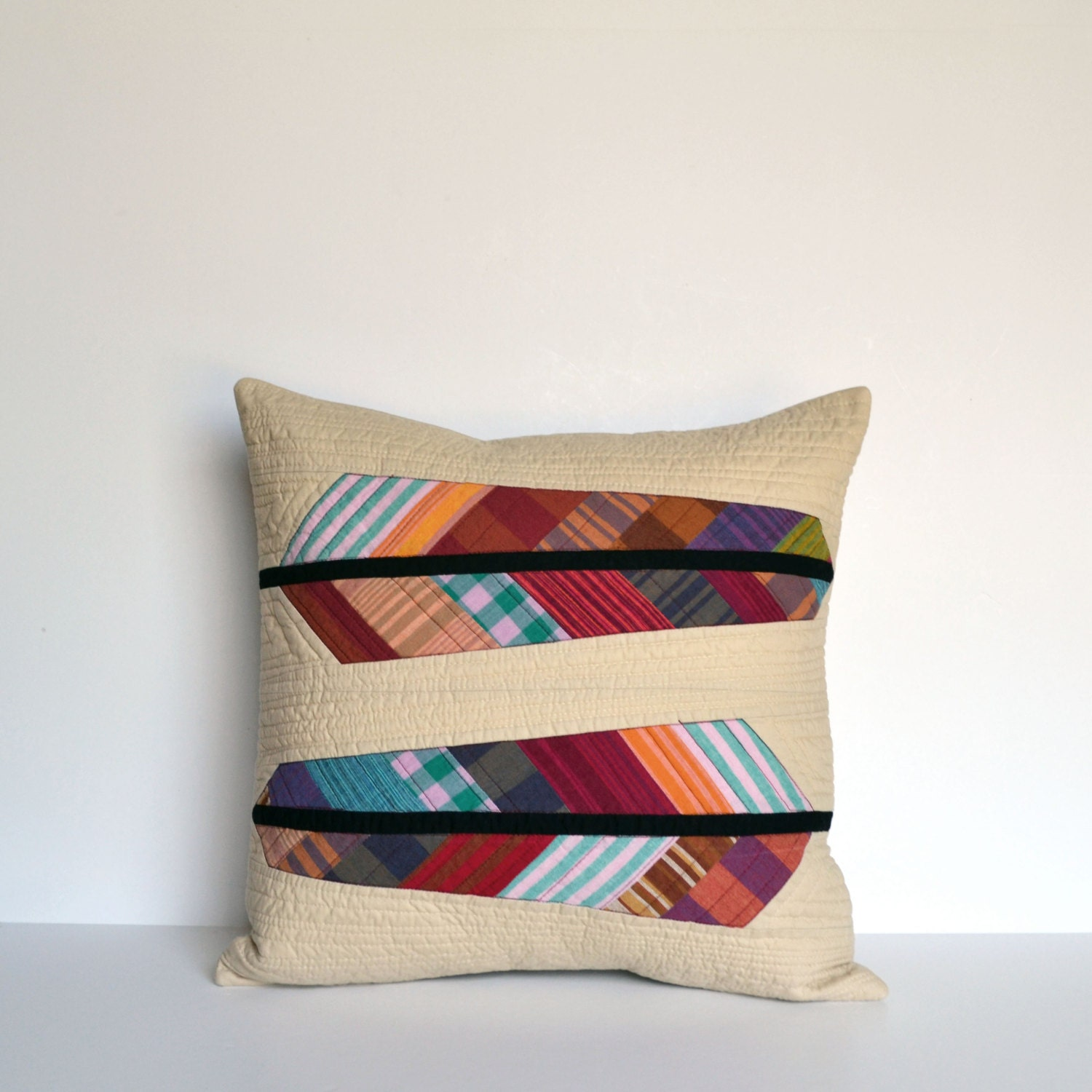 Modern Quilted Pillow Covers : Modern Pillow Cover Quilted Pillow Cover Modern Pillow
