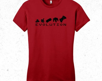 Gamer t shirt womens - Evolution of game controllers