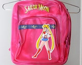 90s Sailor Moon See-Through Pink Jelly Backpack