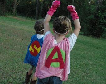 Personalize Your Own SUPER HERO CAPE - Birthday Cape - Halloween Costume - Kid Costume