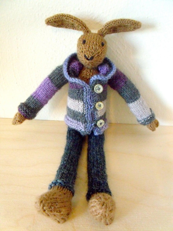 Arm Knit Rabbit Pattern : Bunny longlegs knitting pattern rabbit