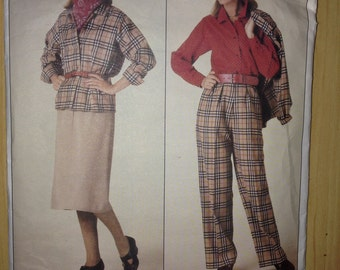 Vogue Sewing Pattern 0995 Misses Jacket, Skirt, Pants and Blouse Size 8-12