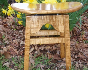 Musician's Tiger Maple stool with Golden Stain
