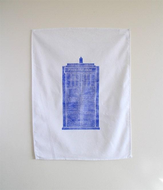 Doctor Who Tea Towel - Tardis Inspired Dish Cloth