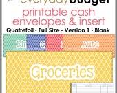 Quatrefoil Printable Cash Envelope Ver.1, Budgeting System, Money Budget Envelopes, Cash Organizer - Set of 5, Instant Download - PB1507