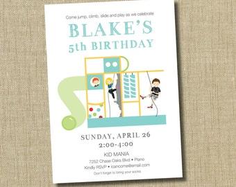Playground Birthday Invitation