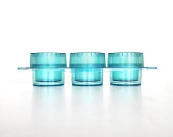 SALE Aqua Blue Planter | Vintage Tuppercraft Trio Planter