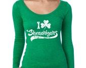 WOMENS I Clover Shenanigans Long Sleeve Shirt funny saint patrick's day shirt, irish pride, pattys day, drinking, drunk S-2XL