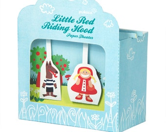 Little Red Riding Hood Paper Theater - DIY Paper Craft Kit - Paper Toy - Puppets