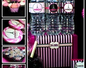 Paris Birthday Custom Party Decorations | Invitations | Banner | Labels | Wrappers | Stickers