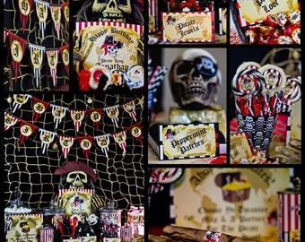 Custom Pirate Birthday Decorations