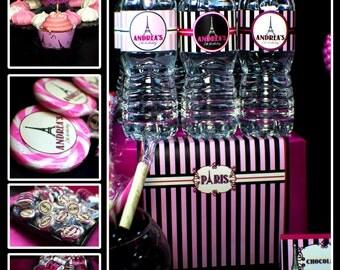 Paris Birthday Custom Party Decorations