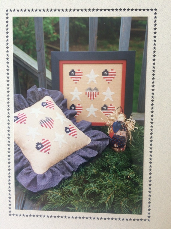 Stars and stripes counted cross stitch pattern chart Stars and stripes home decor
