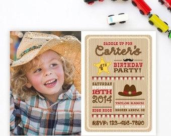 Cowboy Birthday Invitation - Cowboy Printable - Western Invitation - Cowboy Birthday - Western Birthday - Cowgirl Invitation - Girl Birthday