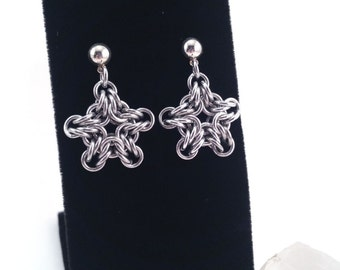 Byzantine Stars Chainmaille Earrings
