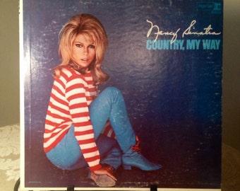 Vintage Vinyl LP Album Country My Way Record by Nancy Sinatra 1967